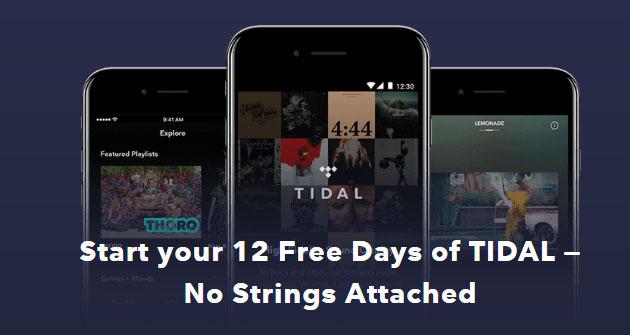 Tidal regala musica per 12 giorni da Natale