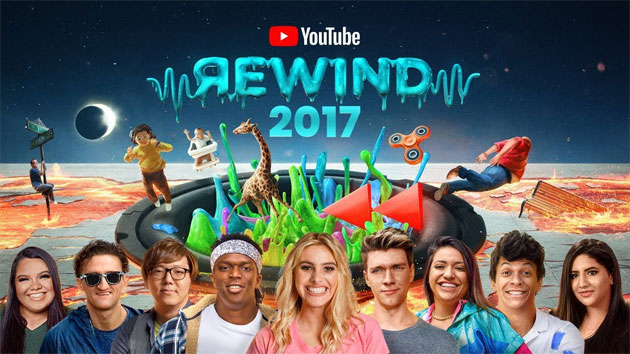 YouTube Rewind 2017, i Video Popolari in Italia e USA nel 2017 su YouTube