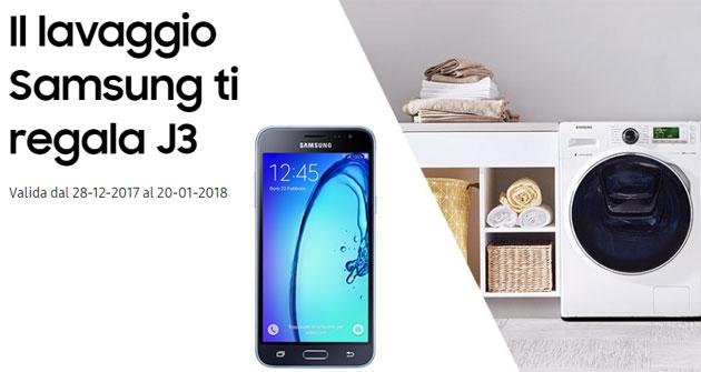 Galaxy J3 2016 in regalo con il lavaggio Samsung