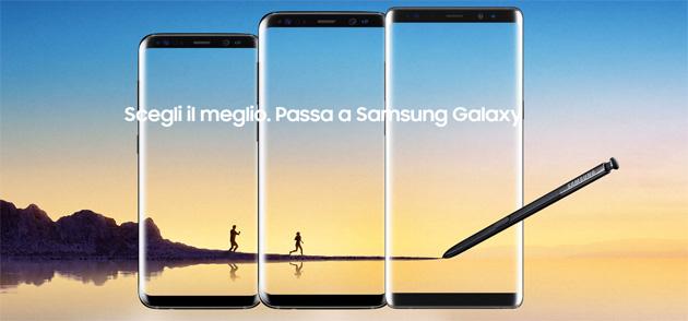 Samsung Value: acquista Galaxy S8, S8+ o Note8 con valutazione del vecchio usato