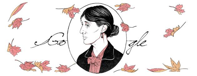 Google Doodle per Virginia Woolf a 136 anni dalla nascita