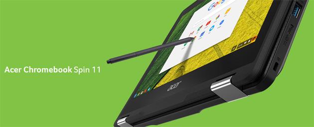 Acer con Chrome OS lancia Chromebook Spin 11, Chromebox CXI3 e Chromebook 11 C732