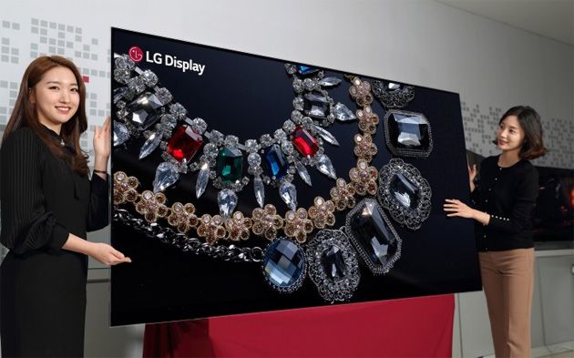 LG con display OLED 8K da 88 pollici e nuovi monitor HDR al CES 2018