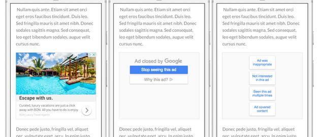 Google fa disattivare gli annunci ripetitivi