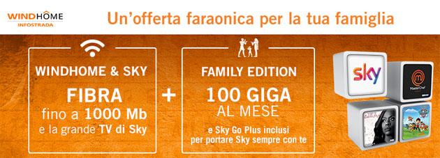 WindHome e Sky TV a 34,90 euro al mese per 1 anno