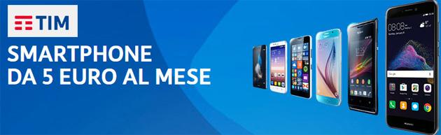 TIM, smartphone da 5 euro al mese tra Samsung Galaxy S9, Huawei P20, LG G7 e Apple iPhone 8