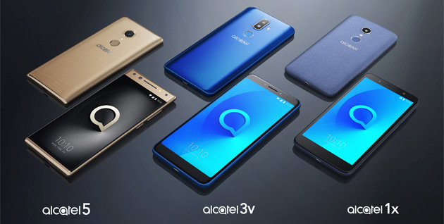 Alcatel anticipa la sua linea di smartphone 2018 con display 18:9 al CES 2018