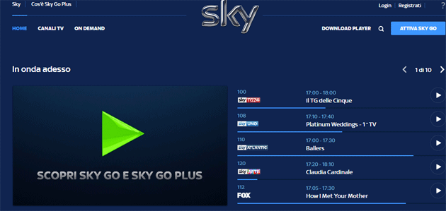 Foto Sky Go per Windows smette di funzionare: come guardare Sky Go sul PC