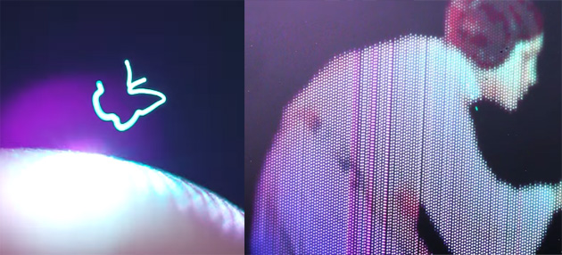 Gli Ologrammi 3D 'veri' esistono, le immagini 3D galleggiano nello spazio libero