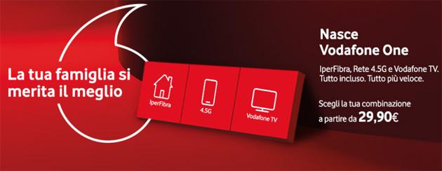 Vodafone One, offerta unica Fisso e Mobile per famiglie