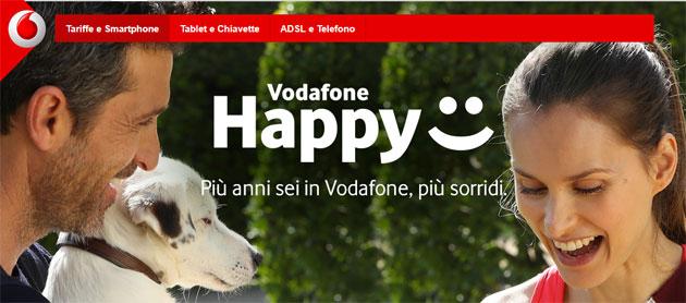 Vodafone Happy regala fino a 30 Giga per un mese