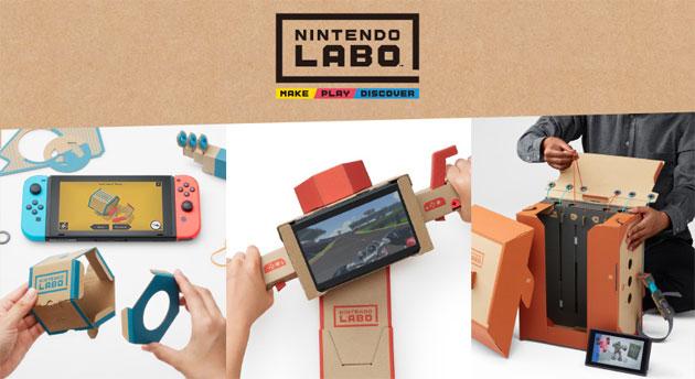 Nintendo Labo trasforma il cartone in creazioni interattive con Nintendo Switch