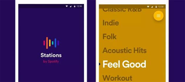 Stations, nuova app da Spotify per ascoltare playlist musicali gratis