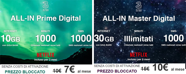 Foto 3 All-In Prime e Master Digital: attivare All-In Prime e Master via web fa risparmiare