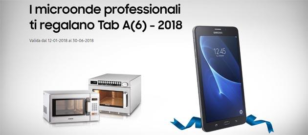 Samsung Galaxy Tab A(6) in regalo acquistando microonde Samsung [fino al 30 giugno 2018]