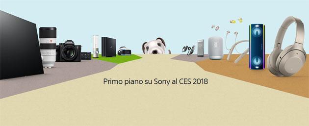 Sony al CES 2018 con nuovi smartphone, TV 4K UHD OLED con Android TV e cuffie con Google Assisant