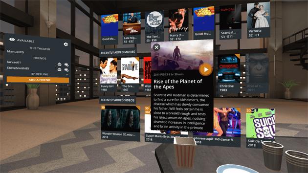 Plex in realta' virtuale su Daydream VR e Gear VR