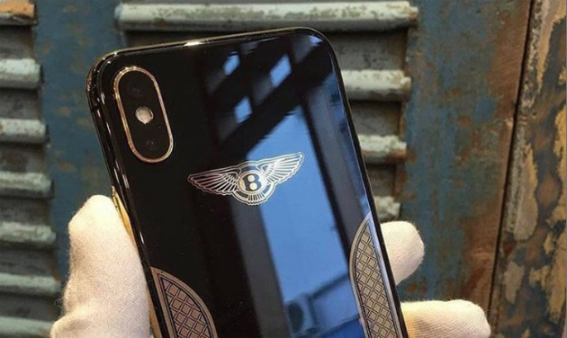Apple iPhone X Bentley Edition con oro 18 carati rivelato