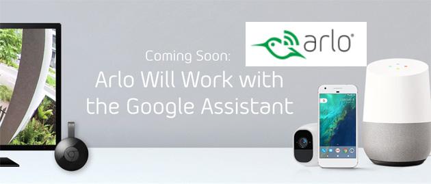Arlo lavorera' con Google Assistente e Chromecast
