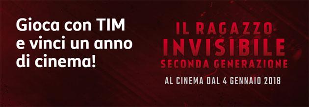 TIM regala un anno di Cinema con Il Ragazzo Invisibile Seconda Generazione