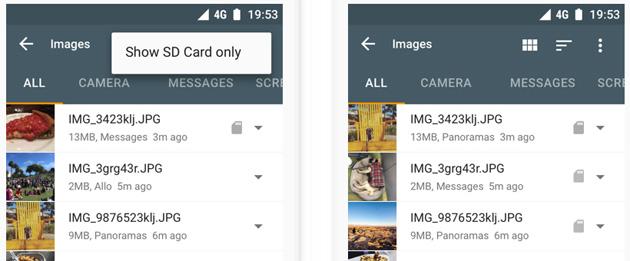 Google aggiorna Files Go con supporto per tablet e schede SD
