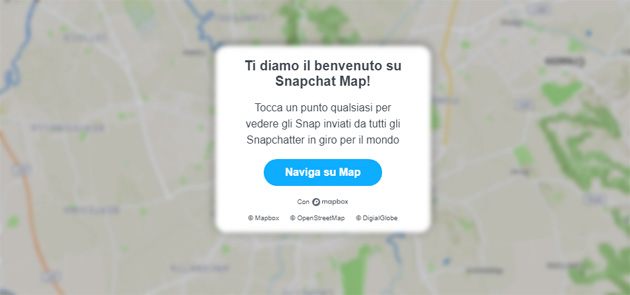 Foto Snapchat Map anche su desktop via browser web