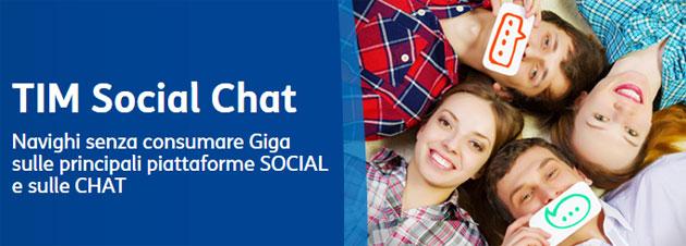 TIM Social e Chat per navigare senza consumare Giga sulle piattaforme sociali
