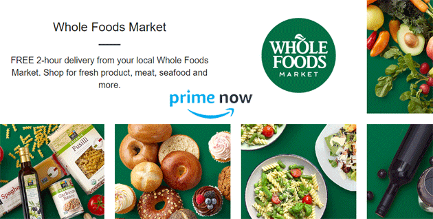 Amazon consegna i prodotti Whole Foods a casa entro due ore