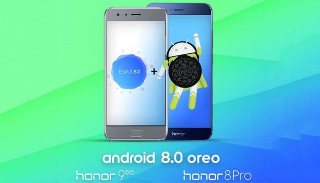 Honor 8, 8 Pro e 9 si aggiornano con Android 8 Oreo in Italia