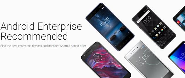 Google certifica gli smartphone Android Consigliati per le Aziende