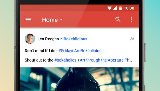 Google Plus, nuova versione della app per Android in arrivo