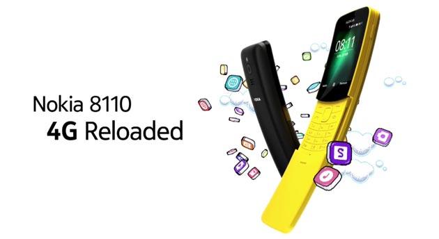 Nokia 8110 Reloaded torna il Nokia 8110 con corpo'a banana e 4G