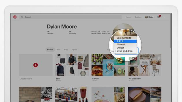 Pinterest: come organizzare Pin, Schede e Sezioni