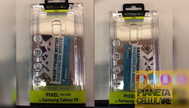 Le prime cover di Galaxy S9 ed S9+ nei negozi, design confermato