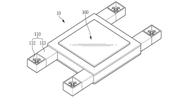 Samsung brevetta drone con display controllabile con gli occhi