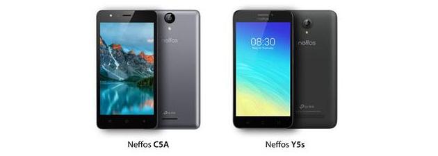 Neffos Y5s e C5A, smartphone Android per chi ha un budget basso