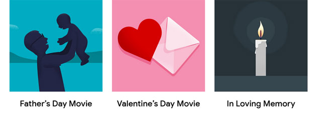 Google Foto introduce i Film a tema per San Valentino