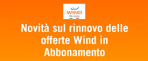 Wind, il rinnovo mensile aumenta le soglie di dati, minuti e sms non cambiando il costo annuale