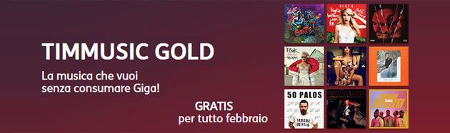 TIMmusic Gold gratis a Febbraio: come usufruire della promozione