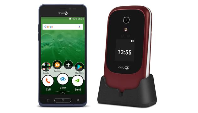 Doro lancia smartphone 8035 e il clamshell 7060 per utenti senior