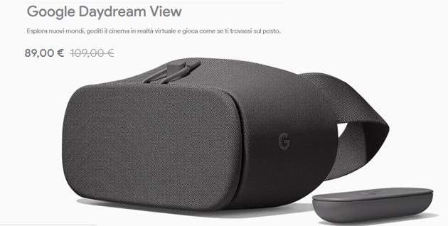 Google sconta il visore Daydream View di 20 euro in italia fino al 24 febbraio