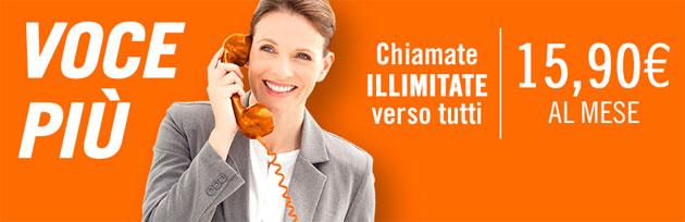 Wind Infostrada Voce Piu', chiamate senza limiti verso tutti a 15,90 euro al mese