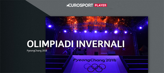 Giochi Olimpici Invernali PyeongChang 2018 su smartphone, tablet e Smart TV con TIM e Eurosport Player in streaming
