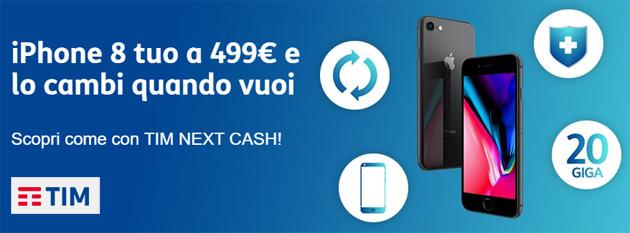 TIM Next Cash, smartphone nuovo ogni anno senza vincoli o rate