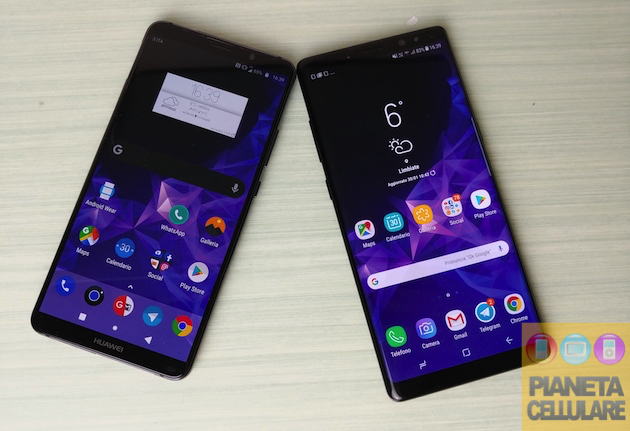 Huawei Mate 10 Pro vs Samsung Galaxy Note 8, confronto al Top