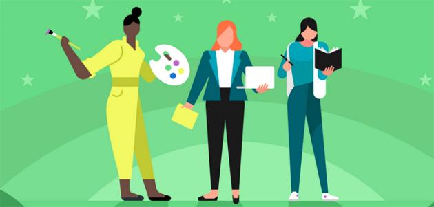 Google Play evidenzia app e giochi sviluppati da donne nel ruolo di programmatrici, scrittrici, designer