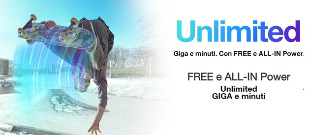 3 Unlimited, giga illimitati in FREE e ALL-IN Power con 3Fiber o 3ADSL