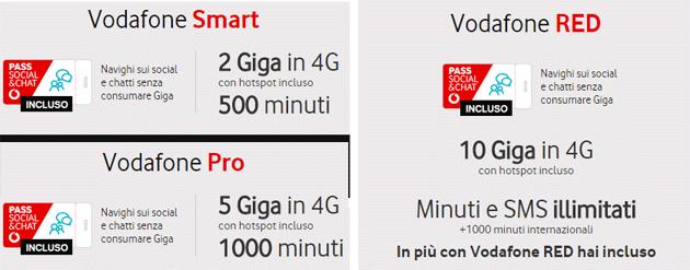 Vodafone Smart, Pro e RED: dettaglio tariffe valide dal 26 marzo 2018