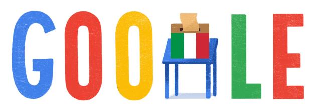Google doodle per le Elezioni Plitiche italiane 2018