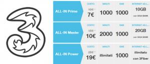 3 ALL-IN Start, Prime e Master fino al 17 giugno
